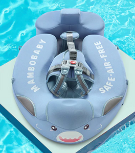 Mambo™ Baby Airless Float Ring With UPF50+ Canopy (2020 Deluxe Edition Swim-Trainer)