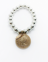 Load image into Gallery viewer, Classic Rose Gold Coin Bracelet