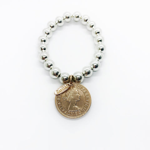Classic Rose Gold Coin Bracelet