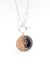 Load image into Gallery viewer, Classic Rose Gold Coin Necklace