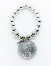 Load image into Gallery viewer, Classic Silver Coin Bracelet