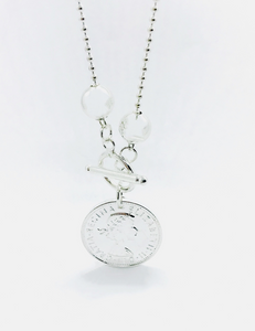 Classic silver coin Necklace