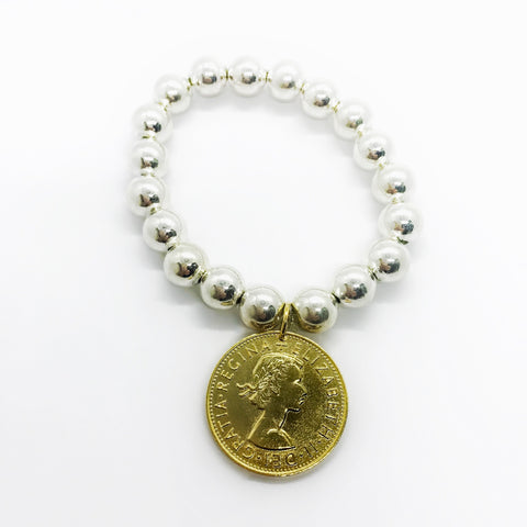 Classic Royal Gold Coin Bracelet