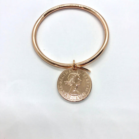 Classic Gold Coin Bangle
