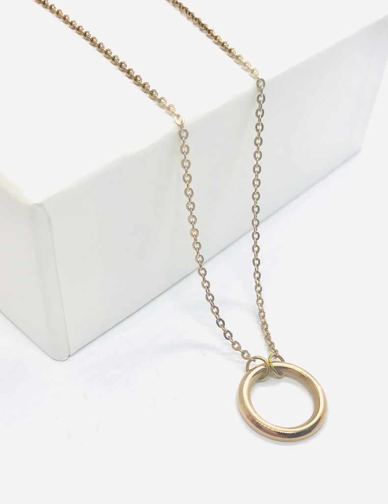 Luxe Gold Sphere Necklace