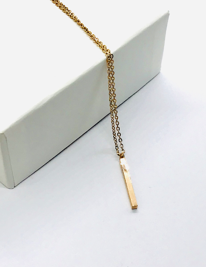 Rose Gold Linear Necklace