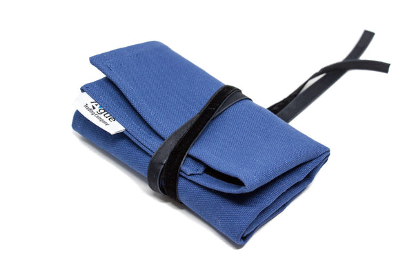 Canvas Watch Roll - Blue w/ Black Interior