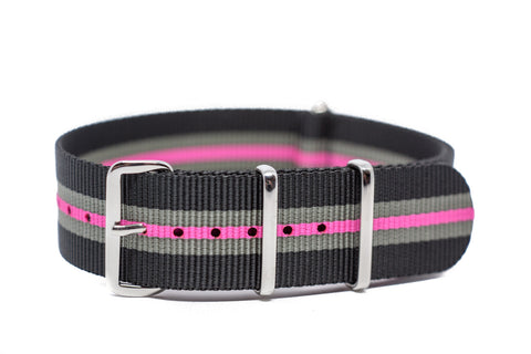 The Olympia Premium Nylon Strap w/Polished Hardware
