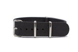 18mm Black Premium NATO Strap w/Polished Hardware