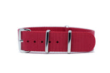 18mm Red Premium NATO Strap w/Polished Hardware