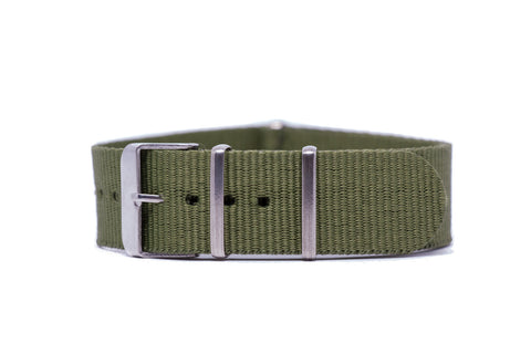 20mm Olive Strap w/Satin Hardware