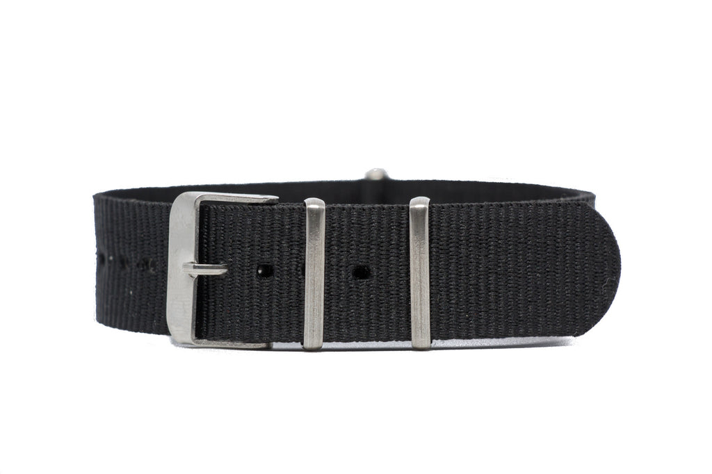 20mm Black NATO Strap w/Satin Hardware