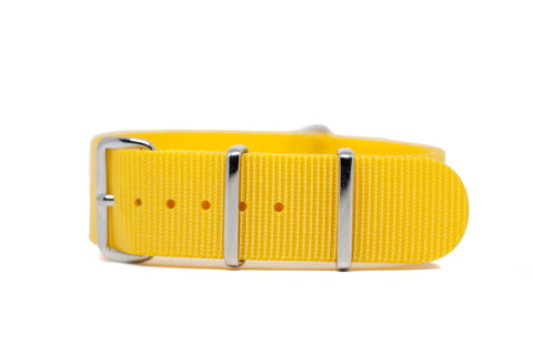 20mm Yellow Premium Strap w/Polished Hardware