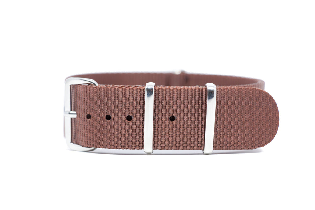 20mm Brown Premium NATO Strap w/Polished Hardware