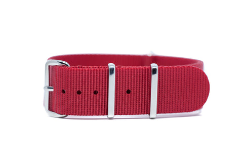 20mm Red Premium Strap w/Polished Hardware