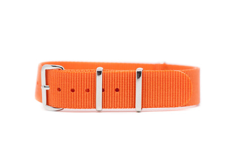 18mm Orange Premium Strap w/Polished Hardware