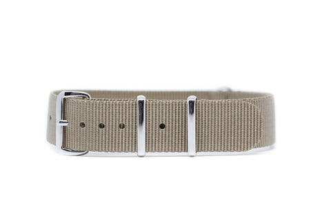 18mm Khaki Premium Strap w/Polished Hardware