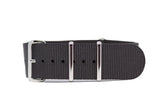 The Bellevue Premium Nylon Strap w/Polished Hardware