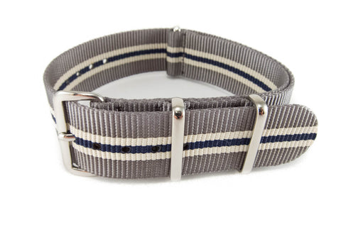The Des Moines Premium Nylon Strap w/Polished Hardware