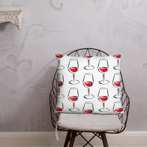 A glass of white or a glass of red? Pillow