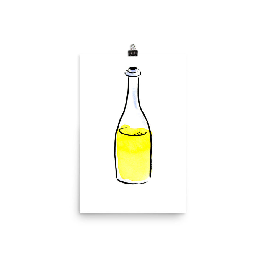 Unoaked Chardonnay Bottle - Print
