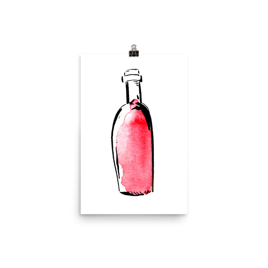 Bordeaux Bottle - Print