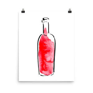 Pinot Noir Bottle - Print