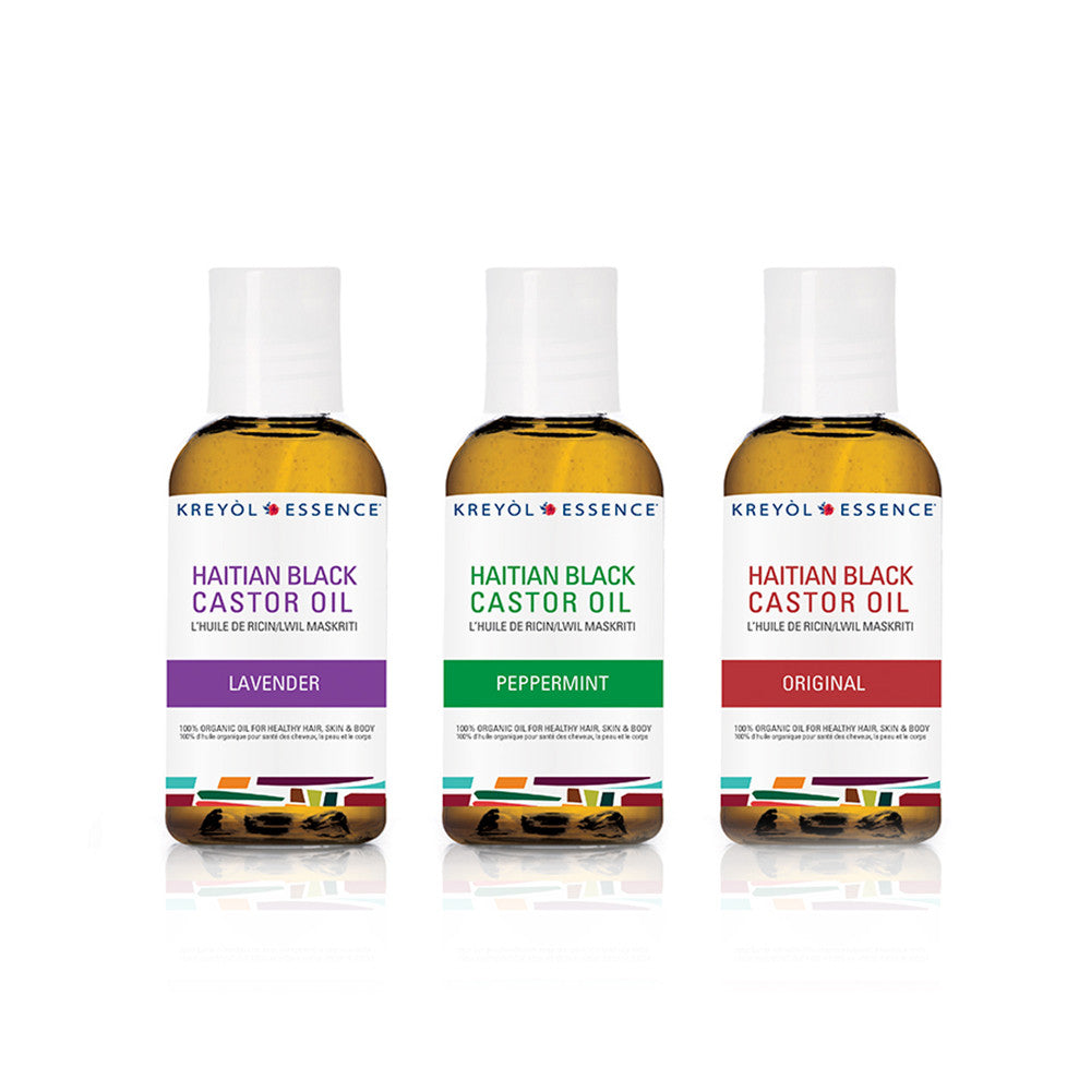 Haitian Black Castor Oil Deluxe Set