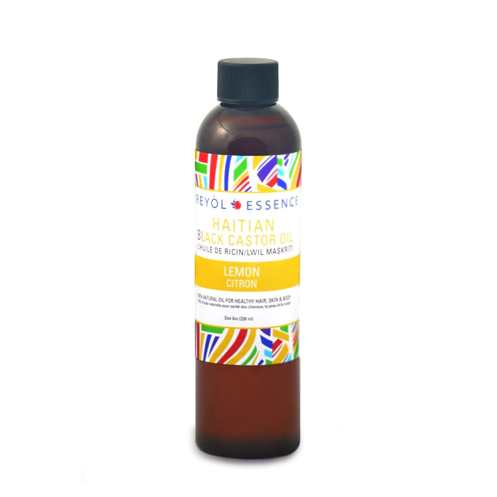 Haitian Black Castor Oil - Lemon/Arôme Citron