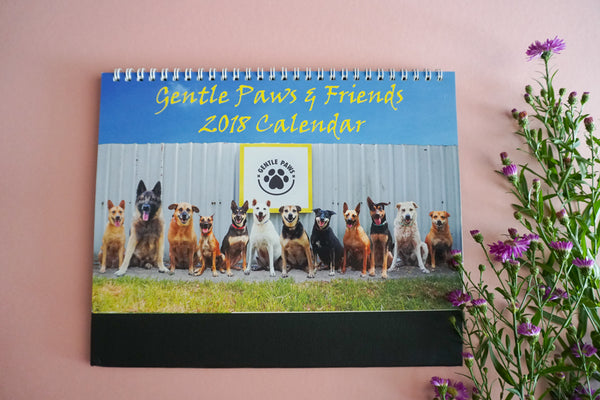 2018 Calendar by Gentle Paws Animal Shelter