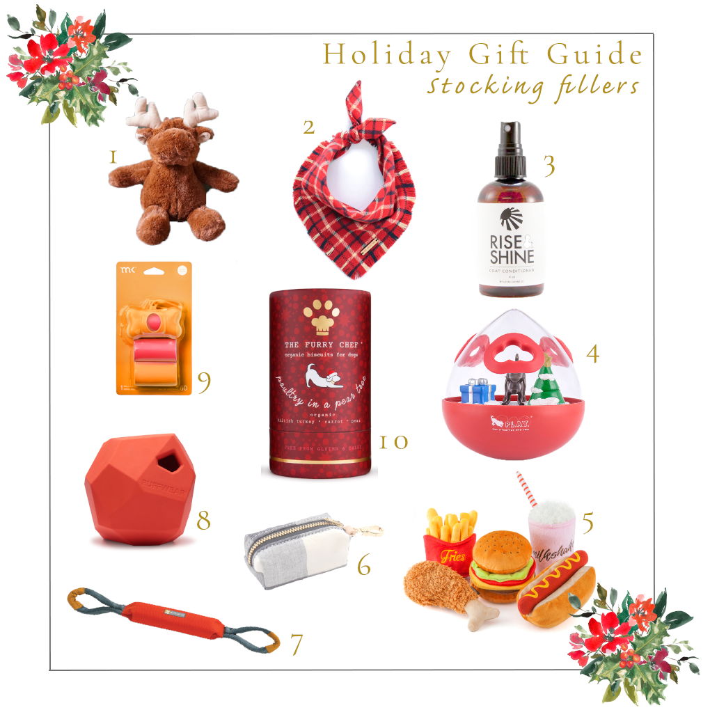 Holiday Gift Guide Stockign Fillers for Dogs Ginger and Bear