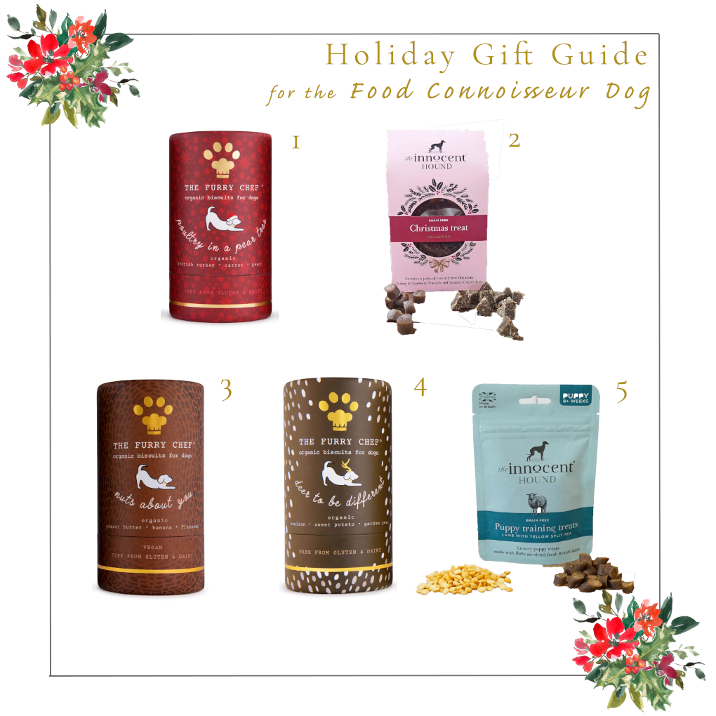 Holiday Goft Guide for the Foodie Connoisseur Dog Ginger and Bear