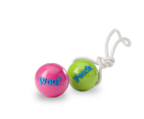 Dog Toy: Woof and Fetch Balls