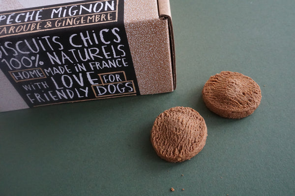 Astons Cookies Dog Treats Peche Mignon Caroube and Gingembre Carob and Ginger