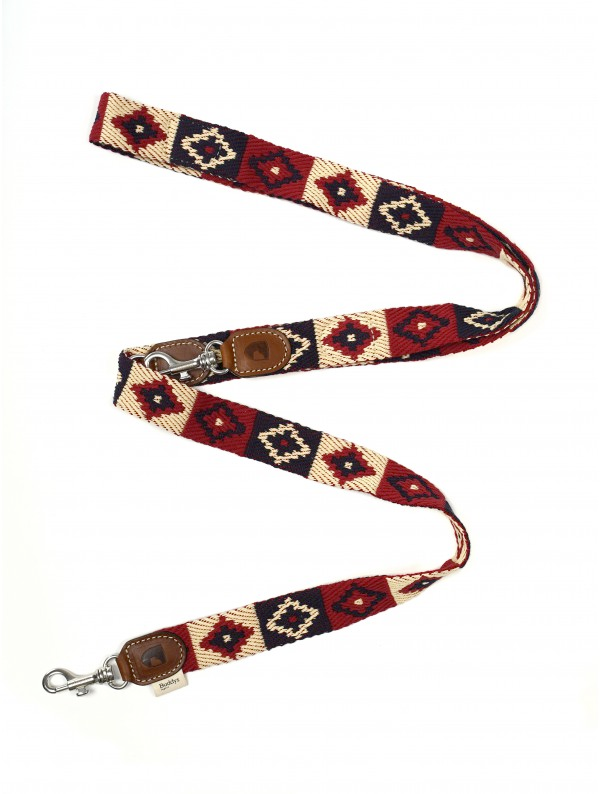 Adjustable Dog Lead: Peruvian Indian Red