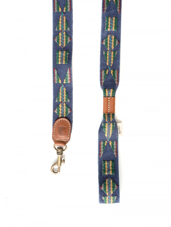 Dog Lead: Etna Blue