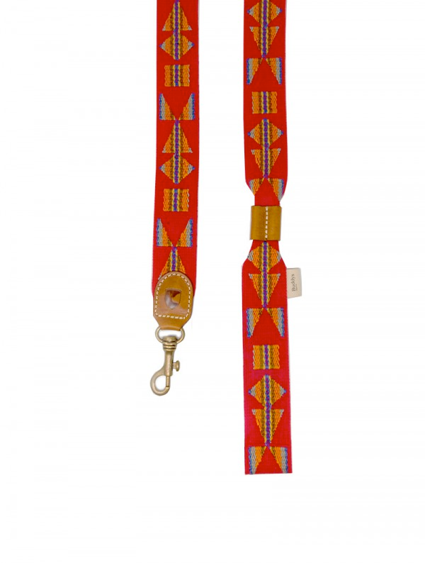 Dog Lead: Etna Red