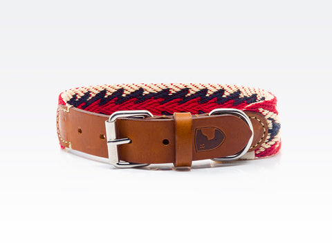 Dog Collar: Peruvian Arrow Red