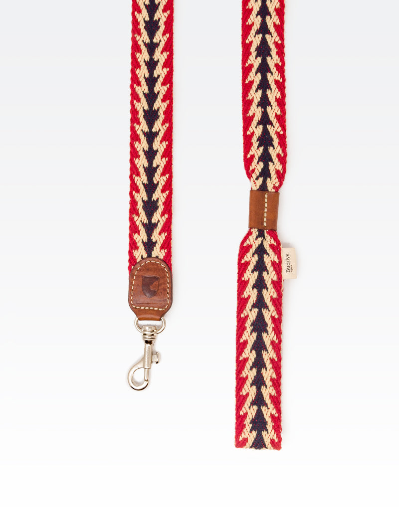 Dog Lead: Peruvian Arrow Red