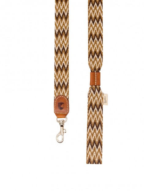 Buddys Dog Wear Peruvian Brown Cott0on Dog Collar Lead Leash