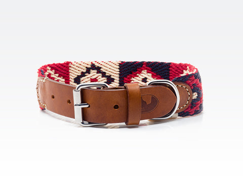 Dog Collar: Peruvian Indian Red