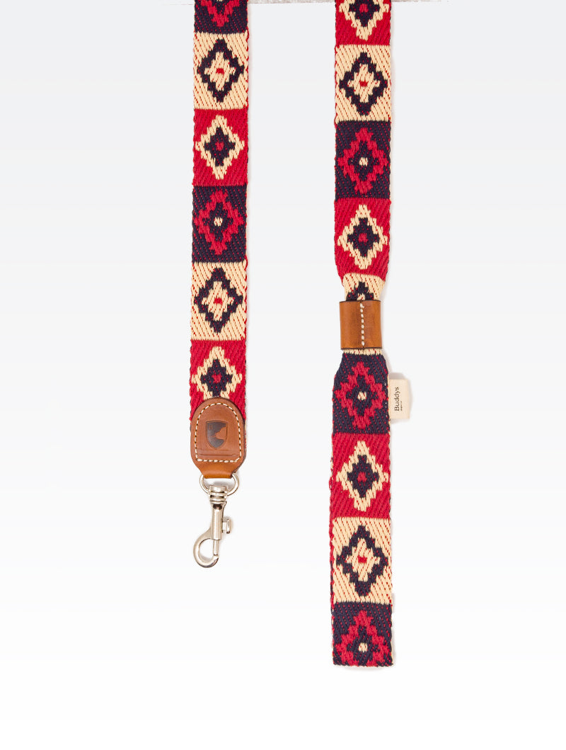 Dog Lead: Peruvian Indian Red