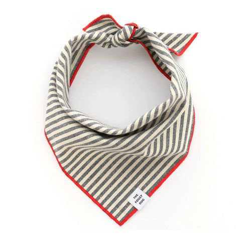 Dog and Cat Bandana: Charcoal Stripe
