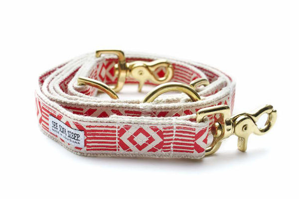 Out of My Box Leash, Vermillion and Cream