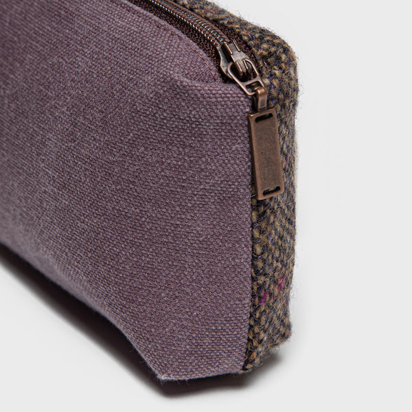 Cloud7: Little Tweed Bag in Purple