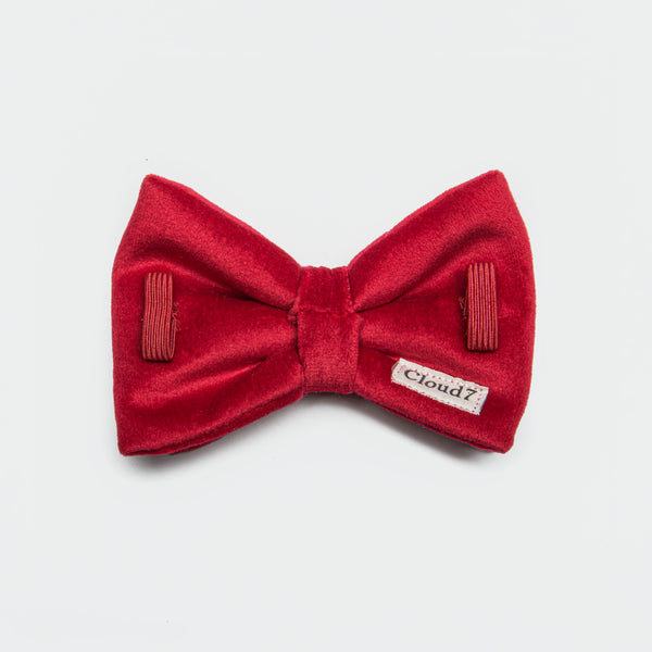 Cloud7 Dog Bow Tie, Red Velvet