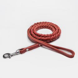 Cloud7: Central Park Leather Dog Leash, Merlot