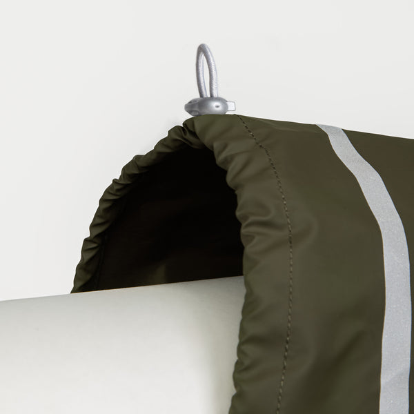 Cloud7 Hamburg Dog Rain Coat in Moss Green