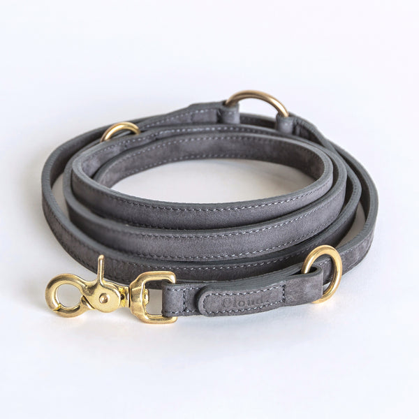 Cloud7 Tiergarten Nubuck Dog Adjustable Leash in Taupe