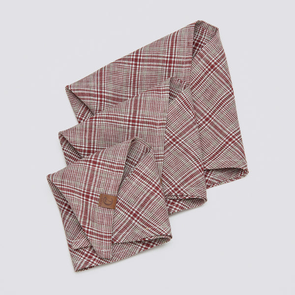 Cloud7 Dog Bandana Check Red